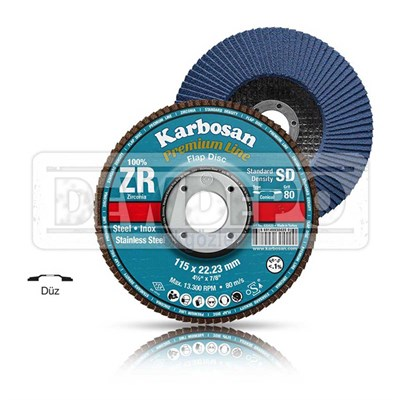 Karbosan ZR Flap Disk 115 x 22 mm - 40 Kum (983450)